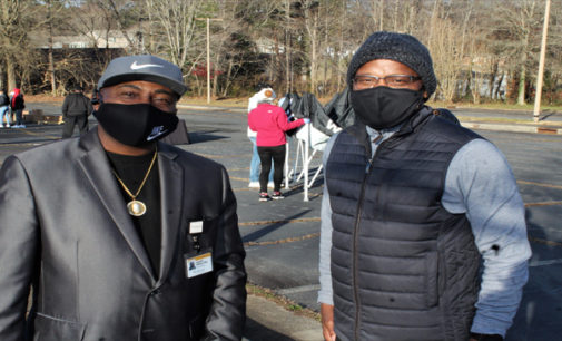 Food and health awareness provided during Drive-thru Winter Festival