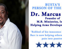 Busta's Person of the Week: Robbed of his innocence as a child, Barr is now helping others turn their pain into passion
