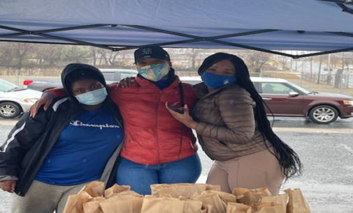 Freezing rain doesn't stop local nonprofit from giving back to community