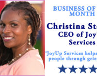 Business of the Month: JoyUp Services helps to guide people through grief to joy