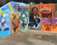 The walk of discovery: meeting the artist of the Depot Street Renaissance Mural
