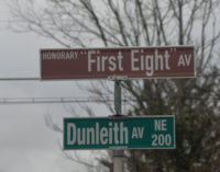 Honorary street sign unveiled recognizing Black men who  integrated the local fire department