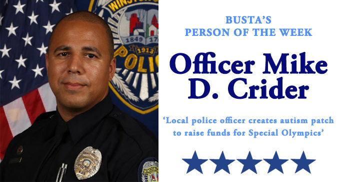 Busta's Person of the Week:  Local police officer creates autism patch to raise funds  for Special Olympics