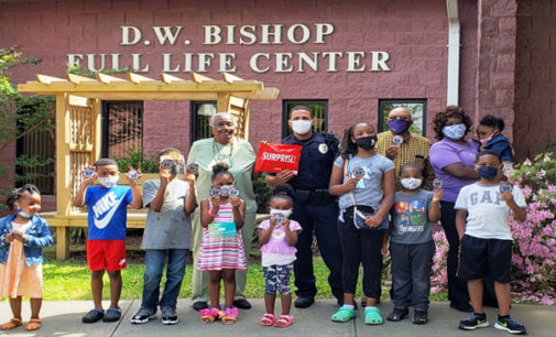 First Waughtown youth donate to WSPD cause