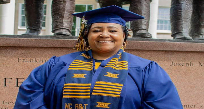 A&T State student receives bachelor's degree – 38 years after she first enrolled