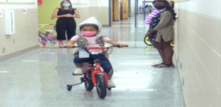 Students receive new bikes for achieving reading goals