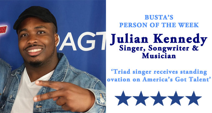 Busta's Person of the Week: Triad singer receives standing ovation on America's Got Talent