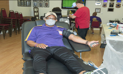 The Omegas partner with the Red Cross for statewide blood drive