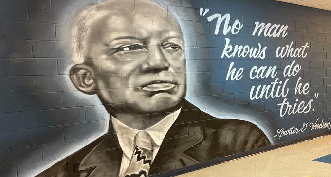 Carter G. Woodson School unveils hallway mural art project