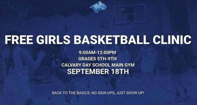 Free basketball clinic to be held at Calvary Day School