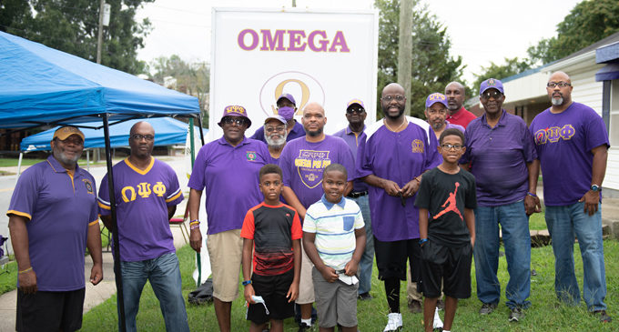 Omegas hand out free school supplies in East Winston