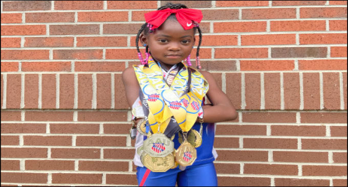 Saleia Stowe, local 5-year-old track star holds national records